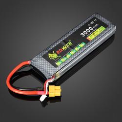 Lion Power 11.1V 3000MAH 30C MAX 40C Lipo Battery XT60 Plug