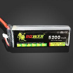 Lion Power 11.1V 5200MAH 30C MAX 40C Lipo Battery XT60 Plug
