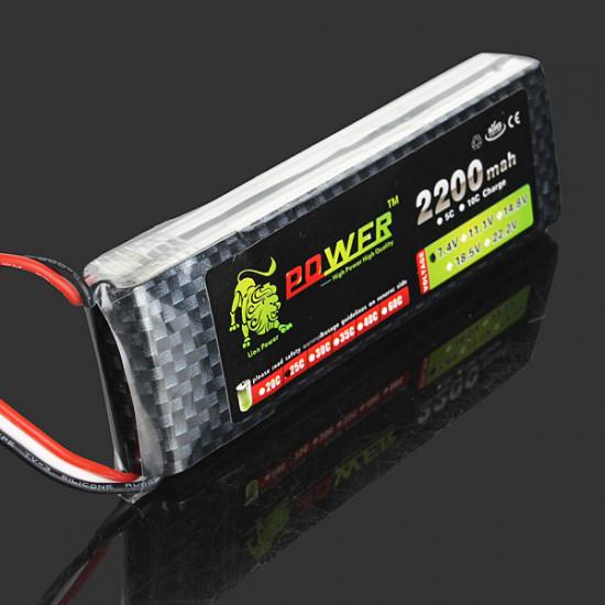 Lion Power 7.4V 2200mAh 25C LiPo Battery JST Plug BW126 2021
