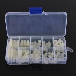 M3 Nylon Hex Spacers Screw Nut Assortment Kit Accessories Set