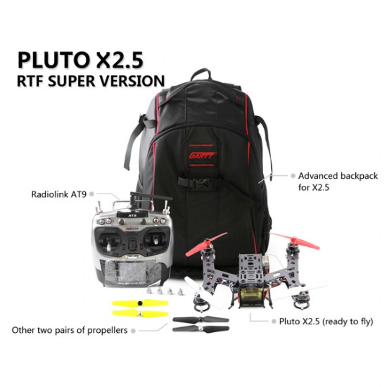 Pluto X2.5250 Frame ComboRadioLink AT9 Transmitter CC3D 10A ESC RTF 2021