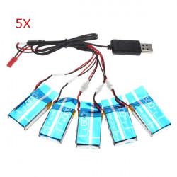 Syma X5-16 X5C H5C 1 To 5 3.7V 600MAH Upgrade Battery 5 PCS