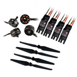 T-Motor AIR Gear 200 Series 2205 2000KV Brushless Motor T6535 Propeller AIR 10A ESC Combo