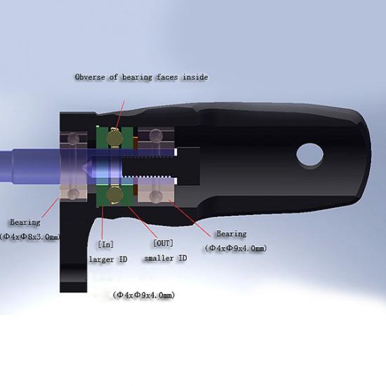 Tarot 450DFC Main Rotor Holder Black TL45162-B 2021