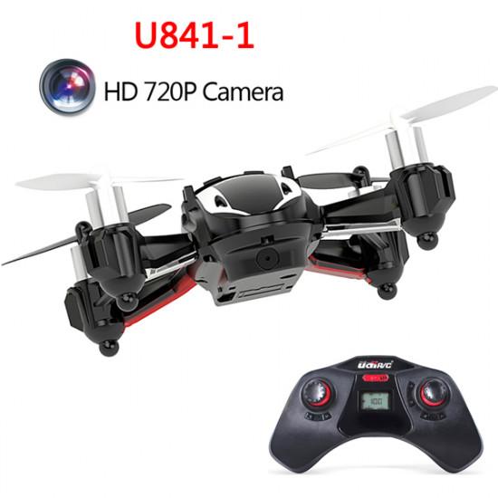 Upgrade UDI U841-1 HD 720P 2MP Camera 2.4G 4CH 6 Axis RC Quadcopter UFO 2021
