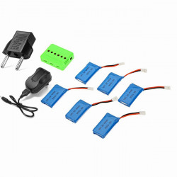 X6A 380mAh Battery With Charger For Hubsan H107L H107C H107D H108 H108C