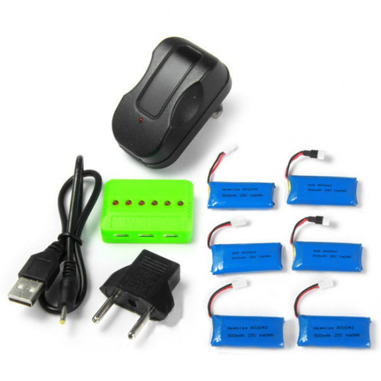 X6A 500mAh Battery With Charger For Hubsan H107L H107C H107D H108 H108C 2021