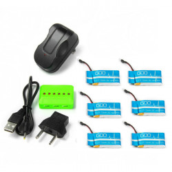 X6A 750mAh Battery With Charger For Syma X5C Cheerson CX-30 JJRC H5C H9D