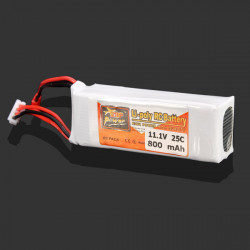 ZOP Power 11.1V 800MAH 25C Lipo Battery JST Plug