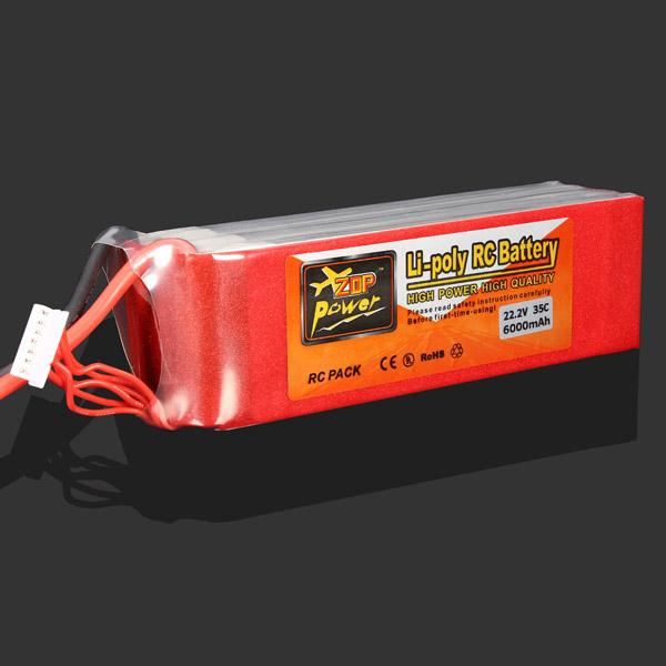ZOP Power 22.2V 6000MAH 35C Lipo Battery XT60 Plug RC Toys & Hobbies