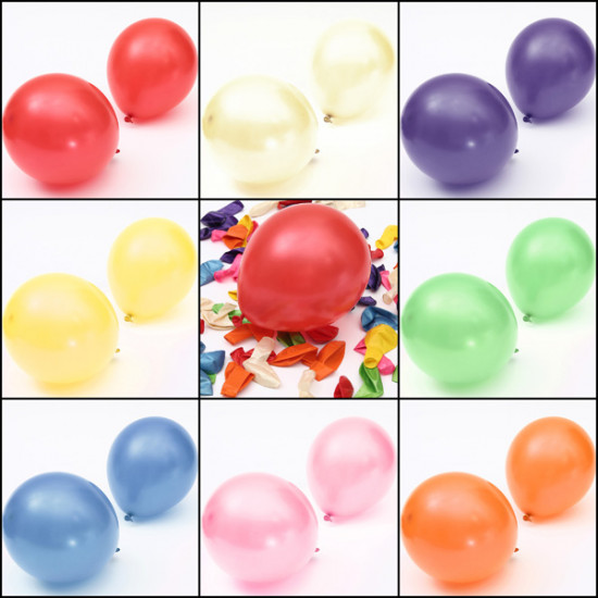 100pcs 10'' Colorful Air Latex Balloon Wedding Birthday Party 2021