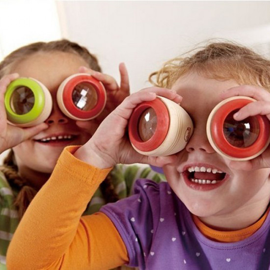 2PCS Bee Magic Eye Effect Kaleidoscope Colorful Wooden Box Observation 2021