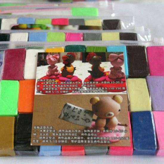 300g Mixed Color DIY Non-toxic Craft Art Toys Moulding Soft Clay 2021
