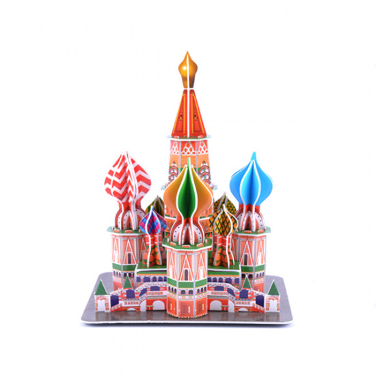 3D Paper Jigsaw Puzzle ST Basil's Cathedral DIY Model 2021