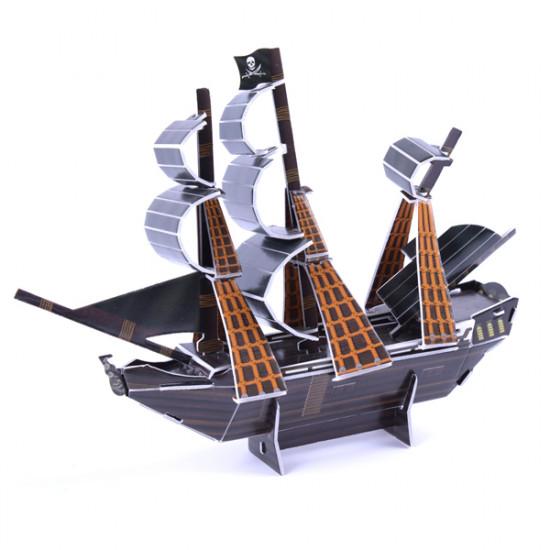 3D Paper Jigsaw Puzzle The Black Pearl Mini DIY Model B668-20 2021
