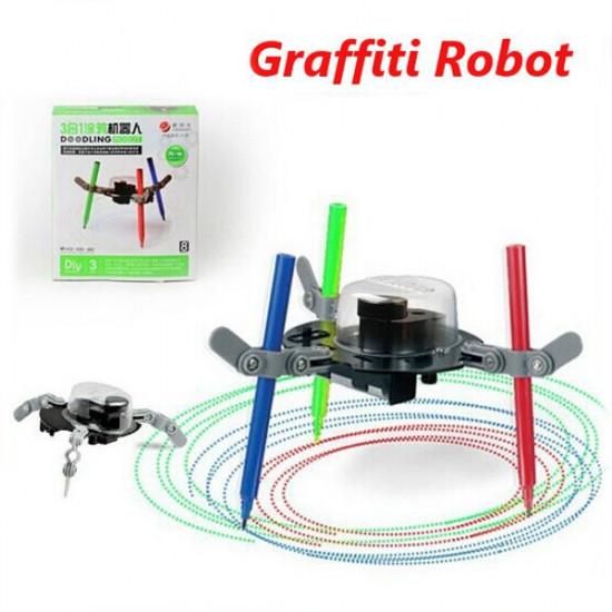 3 IN 1 Doodling Robot Graffiti Electrical Auto Drawing Machine DIY 2021