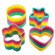 4PCS Classic Toy Kaleidoscope Rainbow Ring Plastic Spring Coil Toy 2021