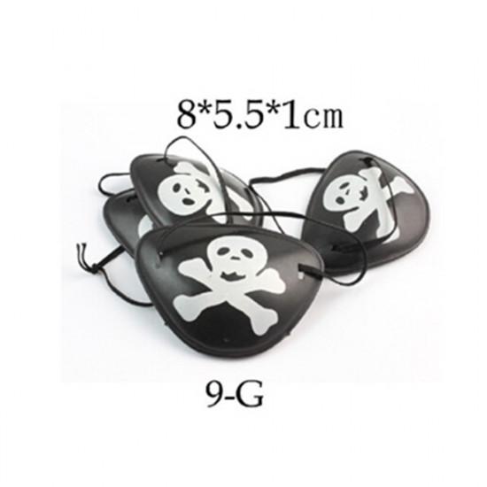 4PCS Pirate Eye Patch Halloween Masquerade Pirate Accessories 2021