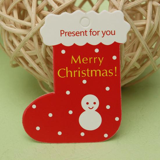 50pcs Hanging Tag Gift Christmas Decoration DIY Parts 2021