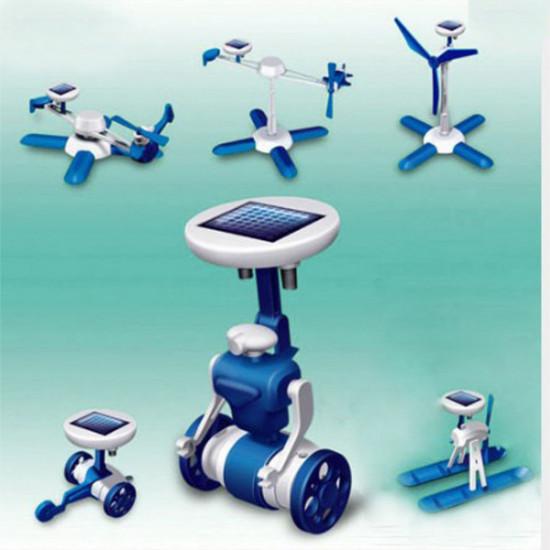 6 IN 1 Solar Toy DIY Robots Plane Educational Kid Gift Creative 2021