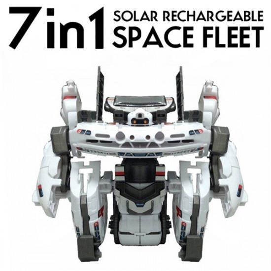 7 In 1 Solar Power Space Fleet Pattern Building Block Assembling DIY 2021