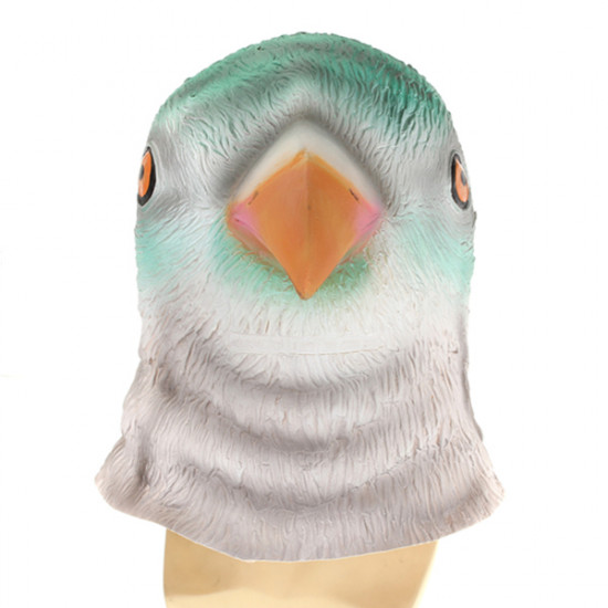 Bird Head Mask Creepy Animal Halloween Costume Theater Prop 2021