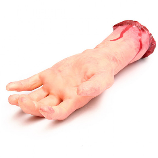 Bloody Cut Off Fake Lifesize Arm Hand Scary Halloween Prop