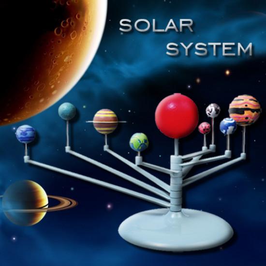 Cute Sunlight Solar System Celestial Bodies Planets Model DIY Toys 2021