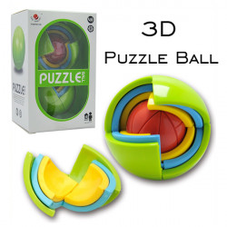 Cute Sunlight Spherical Jigsaw 3D DIY Puzzle Ball Game Toy For Kids