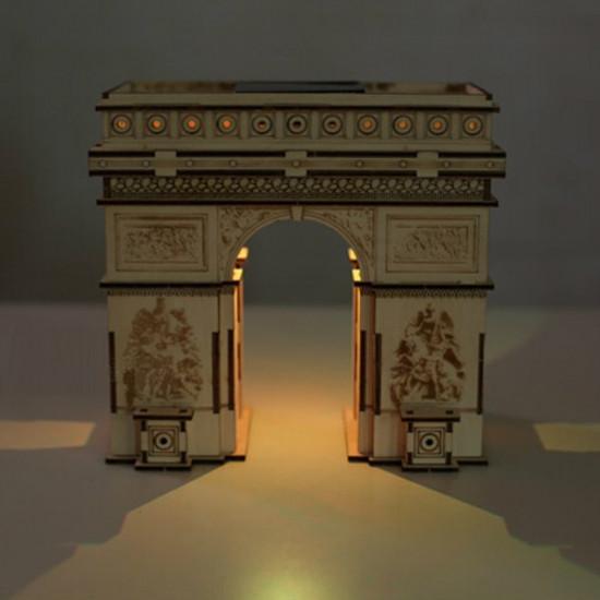 DIY 3D Solar Puzzle Wooden Toys Educational Assemble Toys Triumphal Arch 2021