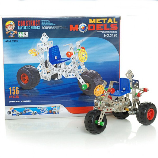 DIY Alloy Assembled Model Toys Simulation Tricycle 2021
