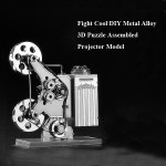 Fight Cool DIY Metal Alloy 3D Puzzle Assembled Projector Model Toys Model