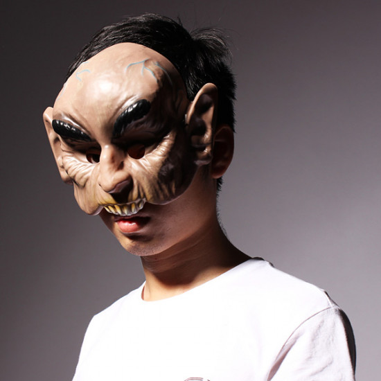 Halloween Party Props Burst Teeth Bald Demon Mask Horror Mask 2021