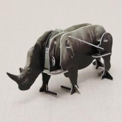 Hopewinning Rhinoceros Wind-up Puzzle Animals 3D DIY Educational Toy