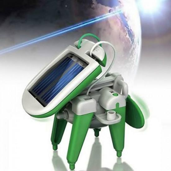 New 6 In 1 Educational Solar Toys Kit Robot Chameleon 2021