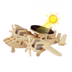 Phantom Early Warning Airplanes Wooden Solar Power Primary Color P340