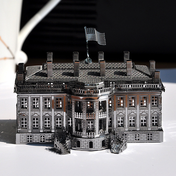 Piececool 3D Assembly Metal White House Puzzle DIY Toys Toys Model