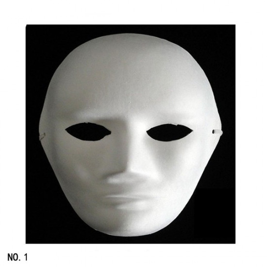 Unpainted Plain Blank Version Paper Pulp Mask SNA006c90 2021