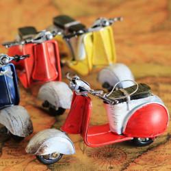 Zakka Crafts Handmade Retro Mini Scooter Motorcycle Model