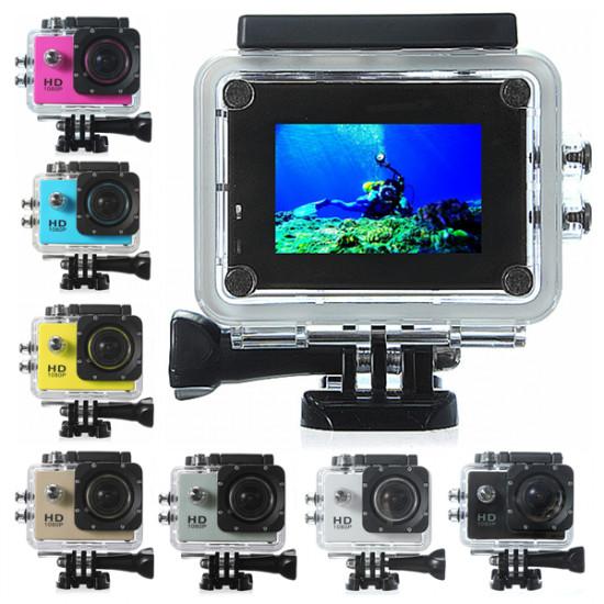 Novatek 96650 Waterproof HD 1080P AV 1.5 Inch Car DVR Sport Camera DV 2021