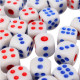 100 Pcs Standard White 10mm Game Dice Blue RED Party Bar Supply 2021