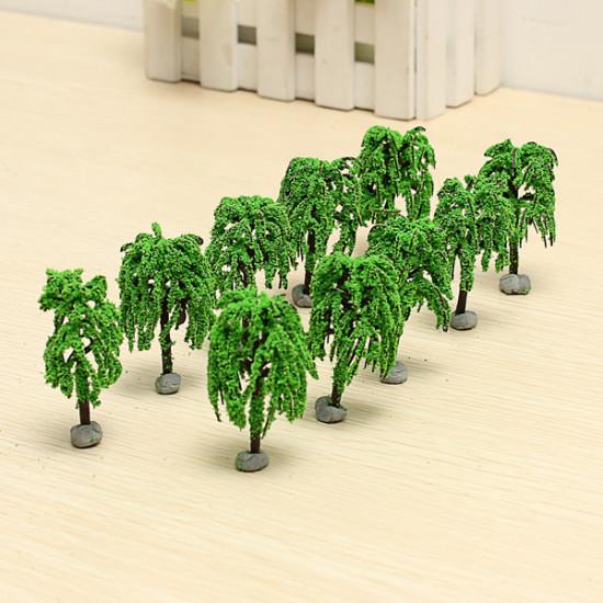 10PCS DIY Building Sand Table Model Material Scene Willow Tree 6cm 2021