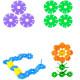 128 Pcs Multicolor Snowflake Building Kid Educational Baby Toy Puzzle 2021