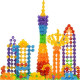128Pcs Multicolor Snowflake Creative Building Blocks 2021