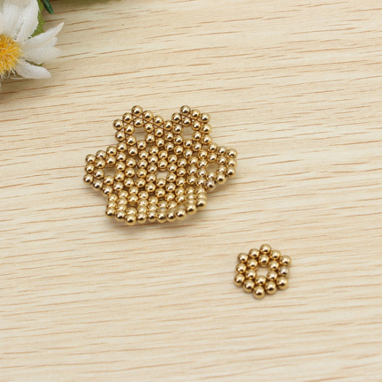 216Pcs 3mm Golden DIY Neocube Magic Beads Magnetic Balls Puzzle 2021
