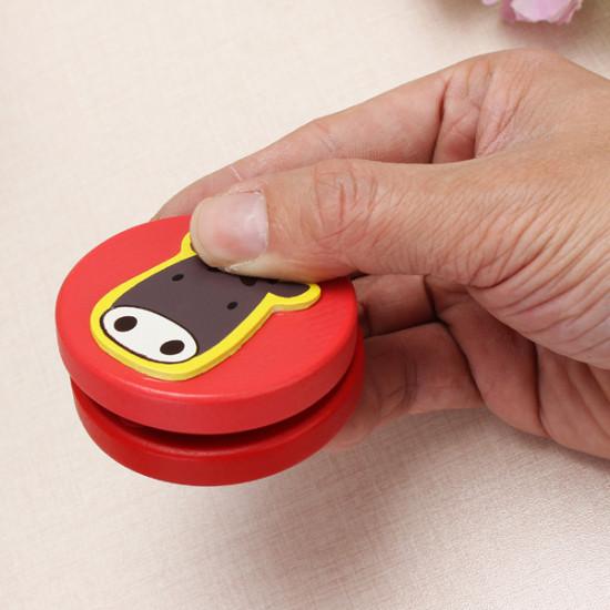 2PCS Children's Wooden Castanet Instrument Animal Educational Toy 2021