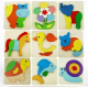 3D Assembled Cat Kitty Wooden Puzzle Preschool Educational Toy 2021