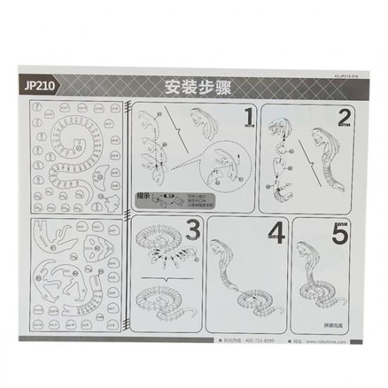 3D Jigsaw Puzzle Wooden Wisdom Development Cobra Snake Toy 2021