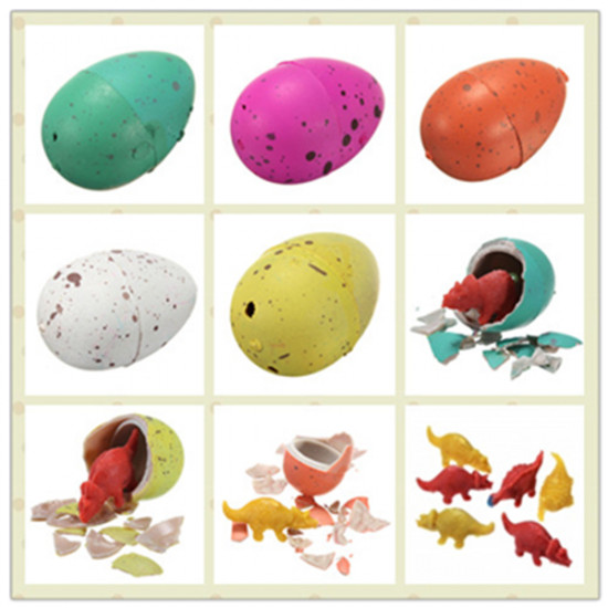 6pcs Magic Add Water Hatching Growing Dinosaur Egg Inflatable Toys 2021
