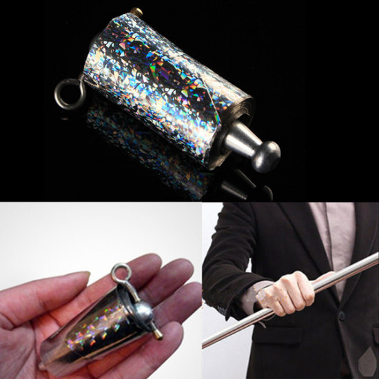 Appearing Cane Metal Silver Magic Trick Close Up And Pop Out Tool 2021